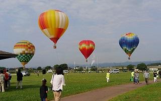 熱気球体験搭乗会当日の様子